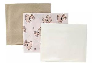 Set De 3 Sabanitas De Camiseta Para Bebe Teddy Bear Shower