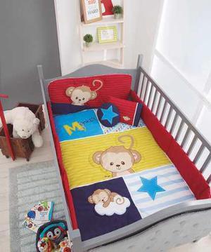Set De Edredon Para Cuna De Bebe Baby Monkey Chiquimundo