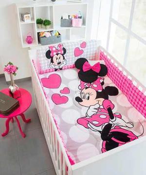 Set De Edredon Para Cuna De Bebe Minnie Mouse Disney Baby