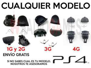 Set Gatillos Control Ps4 Kit L1 L2 R1 R2 Resortes 4 Modelos