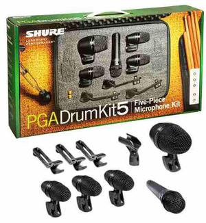 Set Microfonos P/bateria Shure Pga Drum Kit 5 Envio Gratis