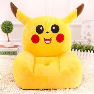 Silla Sillón Puff Para Bebé O Niño Decoración Pikachu