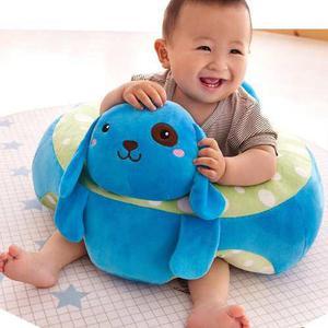 Soporte Aprender A Sentarse Bebé Perrito Azul