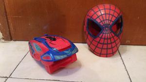 Spider man hasbro nerf lanzador y careta super heroes
