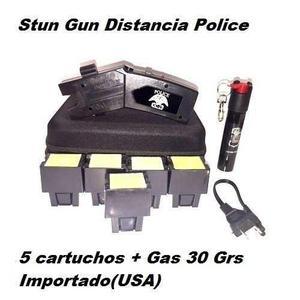 Stun Gun Paralizador Distancia Oc-17 Con 5 Cartuchos+gas 30g