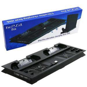 Ventilador Y Estación De Carga Para Ps4 Pro, Consola Fresca