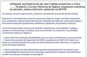 clases regularización personalizadas matemáticas SLP