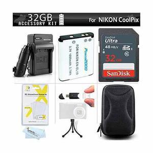 32 Gb Kit De Accesorios Para Nikon Coolpix S3700 S7000 S6500