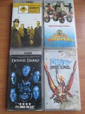 4 Peliculas Para Psp Originales Umd Heavy Metal Snatch Etc