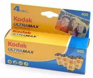 4x Kodak Ultramax 400 Velocidad De 35 Mm 36 Exposiciones Cin