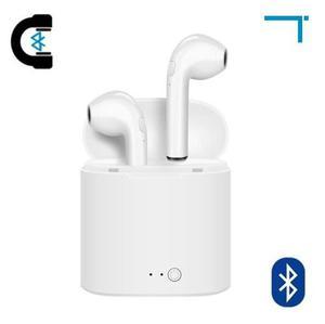6 Audífonos Bluetooth Tipo Airpods Con Estuche I7s