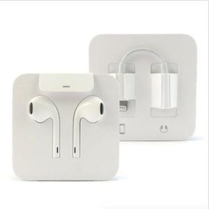 Audífonos Iphone Lightning Y Adaptador 3.5 Mm, Envio