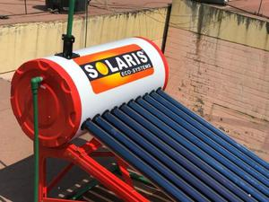 Calentador Solar De 18 Tubos Para 6 Personas Galvanizado