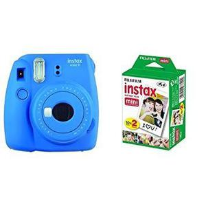 Cámara Instax Mini 9 Color Azul Cobalto +un Kit De 2 Rollos