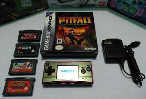 Game Boy Micro Ed. 20 Aniv Mario + 5 Juegos Originales