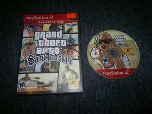Grand Theft Auto San Andreas Sin Instructivo Play Station 2.