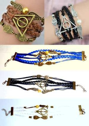Harry Potter Original Pulsera Piel Reliquias, Hedwig, Snitch