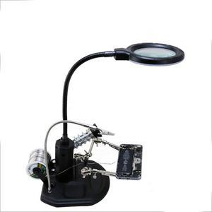 Herramienta Lupa Luz P Reloj Celulares Cautin Luz Bst-308l E