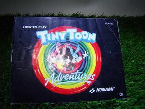 Manual Tiny Toon Adventure Nintendo Nes,snes,mini,cv,n64,psp