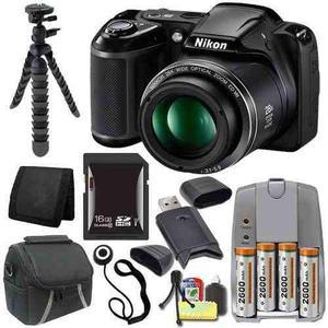Nikon Coolpix L340 Digital Camera (black) - International Ve