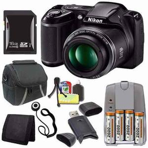 Nikon Coolpix L340 Digital Camera (black) (international Mod