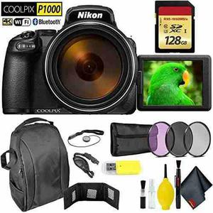 Nikon Coolpix P1000 Digital Camera + 128gb Memory Card Extre