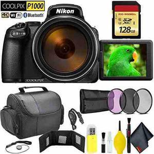 Nikon Coolpix P1000 Digital Camera + 128gb Memory Card Trave