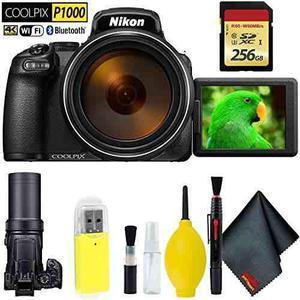 Nikon Coolpix P1000 Digital Camera + 256gb Memory Card Base