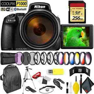 Nikon Coolpix P1000 Digital Camera + 256gb Memory Card Profe
