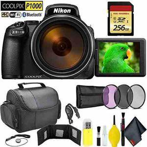 Nikon Coolpix P1000 Digital Camera + 256gb Memory Card Trave