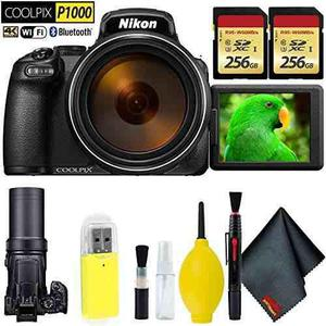 Nikon Coolpix P1000 Digital Camera + 512gb Memory Card Base