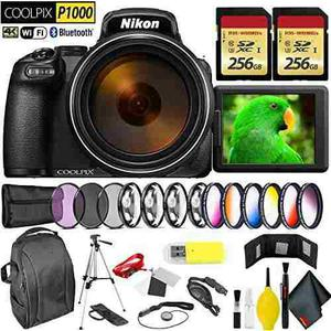 Nikon Coolpix P1000 Digital Camera + 512gb Memory Card Profe