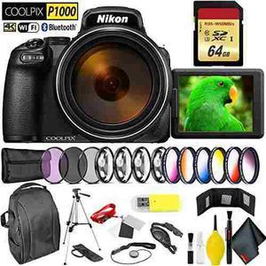 Nikon Coolpix P1000 Digital Camera + 64gb Memory Card Profes