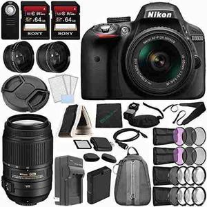 Nikon D3300 Dslr Camera With 18-55mm Lens (black) + Nikon Af