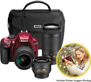 Nikon - D3400 Dslr Camera With 18-55mm, 70-300mm And 35mm Le