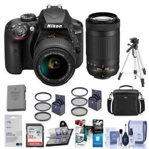 Nikon D3400 Dx-format Dslr Camera, Black With Af-p Dx Nikkor