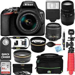 Nikon D3500 24.2mp Dslr Camera + (18-55mm Vr Nikon & 70-300m