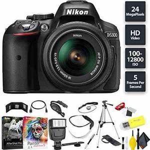 Nikon D5300 Dslr Camera + Af-p 18-55mm Lens Base Combo Inter