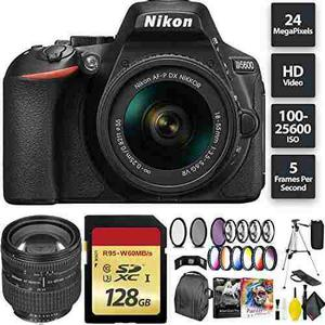 Nikon D5600 Dslr Camera + 18-55mm Lens + 128gb Memory Card +