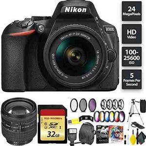 Nikon D5600 Dslr Camera + 18-55mm Lens + 32gb Memory Card +
