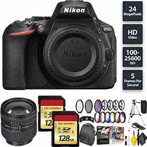 Nikon D5600 Dslr Camera + 256gb Memory Card + Nikon 24-85mm