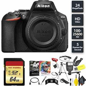 Nikon D5600 Dslr Camera + 64gb Memory Card Base Combo Intern