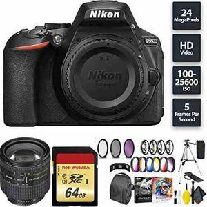 Nikon D5600 Dslr Camera + 64gb Memory Card + Nikon 24-85mm L