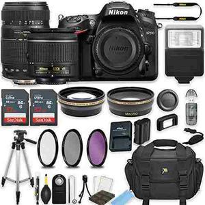 Nikon D7200 24.2 Mp Dslr Camera (black) W/af-p Dx Nikkor 18-