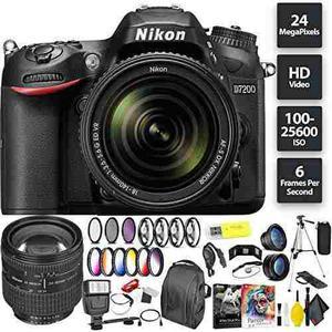 Nikon D7200 Dslr Camera + 18-140mm Lens + Nikon 24-85mm Lens