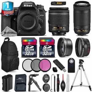 Nikon D7500 Camera + Af-p 18-55mm Vr + 70-300mm Vr