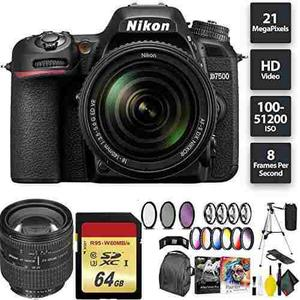 Nikon D7500 Dslr Camera + 18-140mm Lens + 64gb Memory Card +