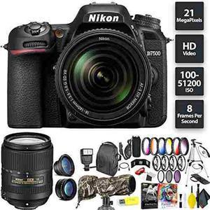 Nikon D7500 Dslr Camera + 18-140mm Lens + Nikon 24-85mm Lens