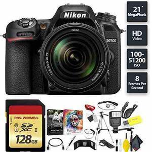 Nikon D7500 Dslr Camera + Nikkor 18-105mm Vr Lens + 128gb Me