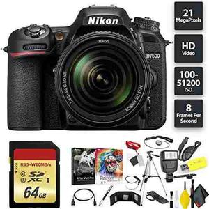 Nikon D7500 Dslr Camera + Nikkor 18-105mm Vr Lens + 64gb Mem